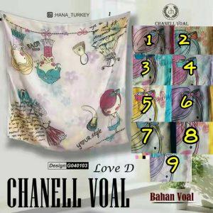 Segi Empat Chanell Voal Love D