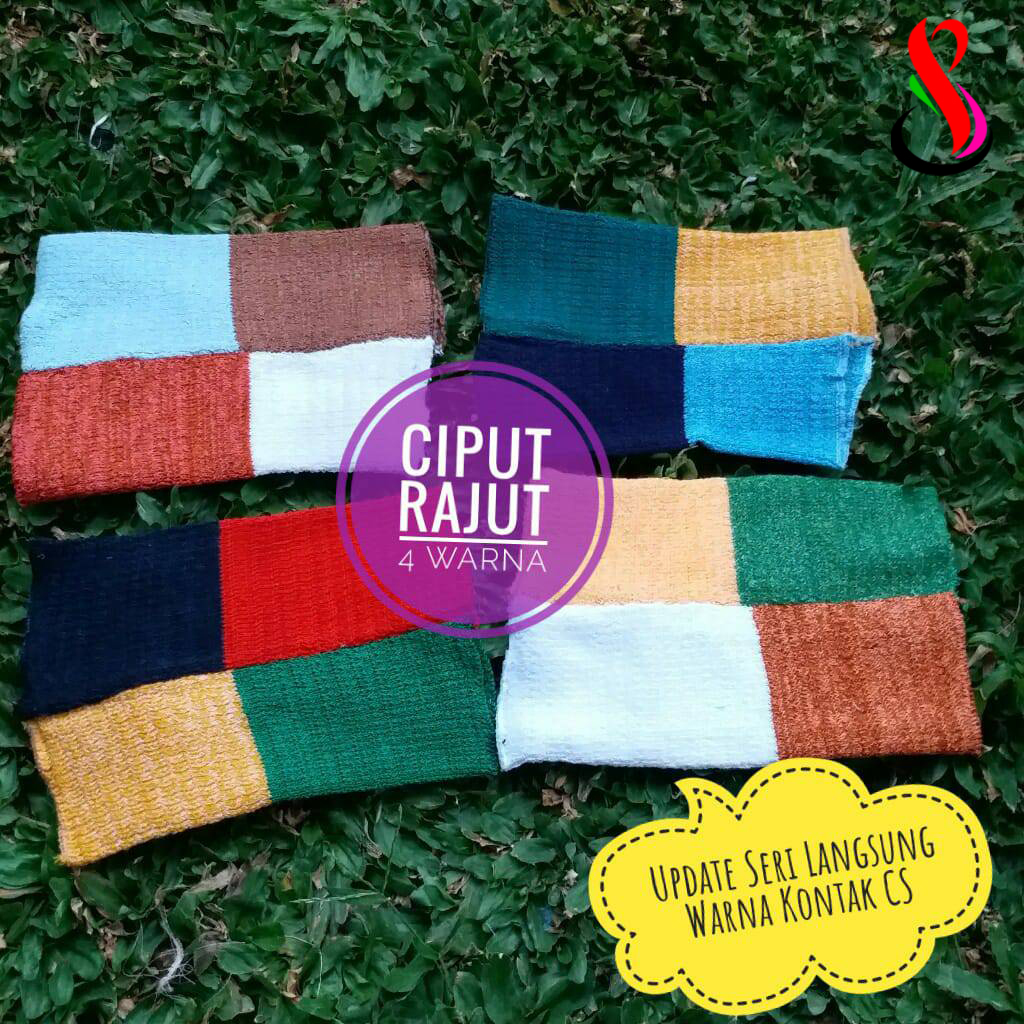 Ciput Rajut 4 warna 9 12 15 140 SG Jilbab