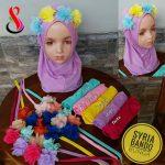 Jilbab Anak Syria Bando Bunga