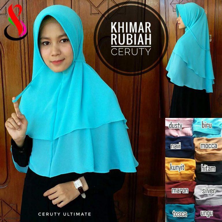 Khimar Rubiah Ceruty 38 41 50 700 SG Jilbab.