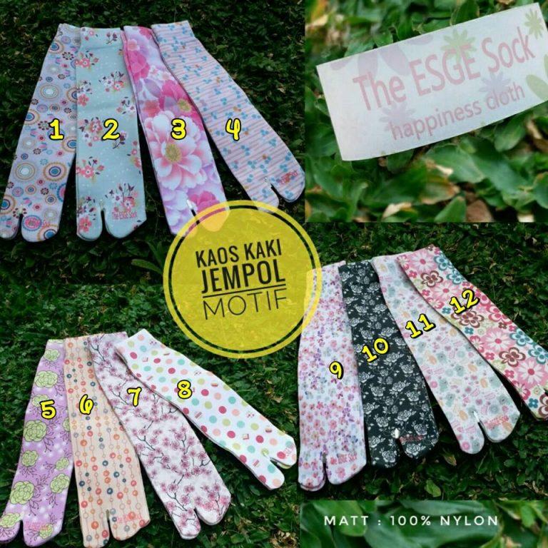 Kaos Kaki Jempol Motfif The Esge Sock, SG Jilbab
