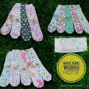 Kaos Kaki Wudhu Motif The Esge Sock