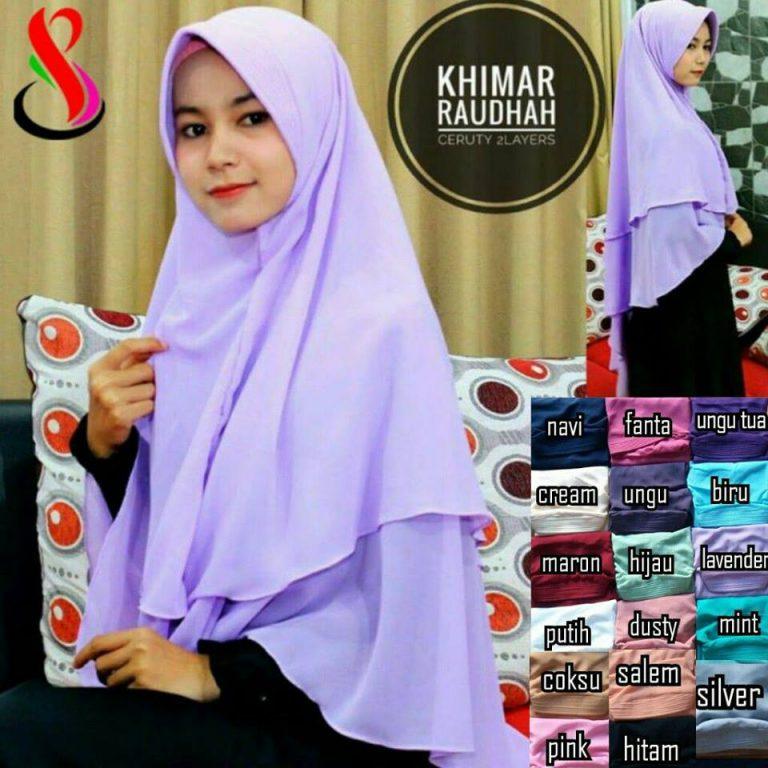 Khimar Raudhah 39 42 55 720 SG Jilbab Ceruty
