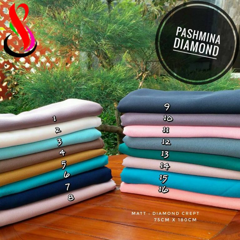 Pashmina Diamond 31 34 45 560 Original by SG Jilbab 75 x 180 cm