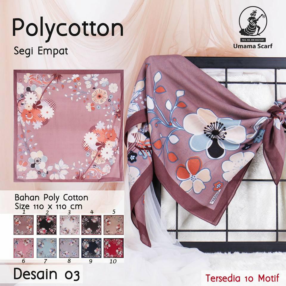 Polycotton Umama 26 29 38 460 SG Jilbab Design 03