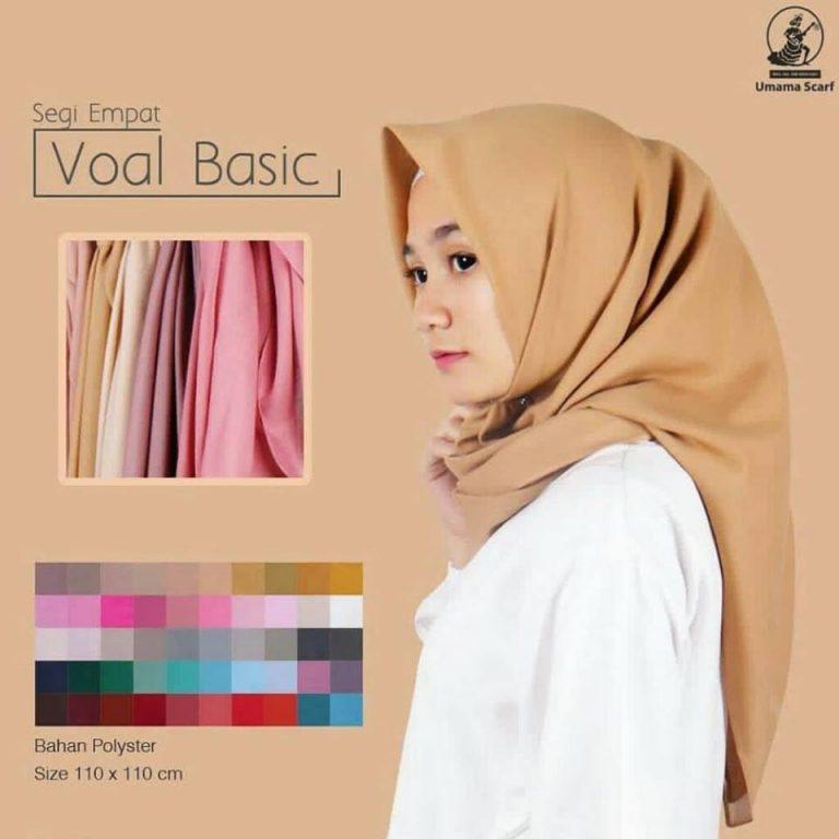 Segiempat Voal Basic 21 23 30 360 Original by Umama SG Jilbab