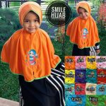 Jilbab Anak Bordir Tali SD Bee Flower