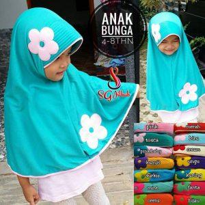 Jilbab Anak Bunga