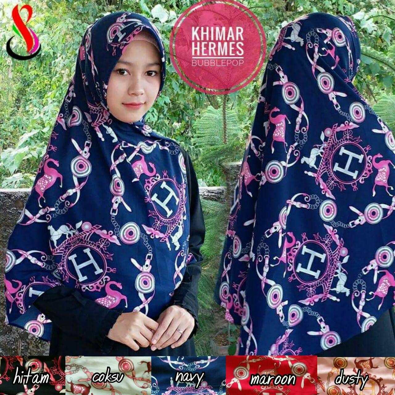 Seri Khimar Hermes 34 37 50 610 SG JIlbab