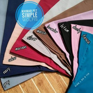 Khimar Pet Simple Wolfis 48 51 65 880 SG Jilbab