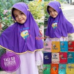 Jilbab Anak Tali Bordir Spongebob SD