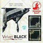 Segi Empat Velvet Black 10