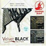 Segi Empat Velvet Black 14