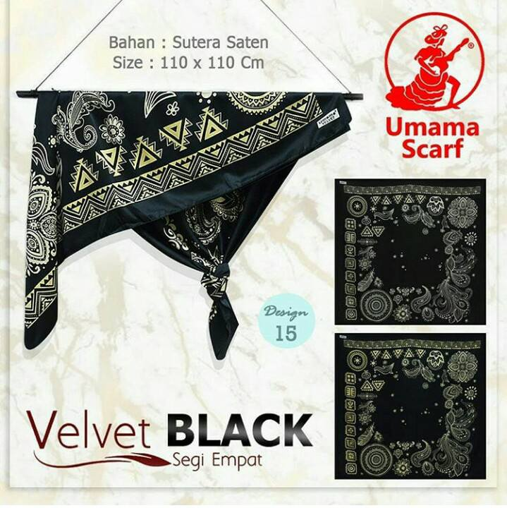 Velvet Black 27 30 40 490 SG Jilbab by Umama 15