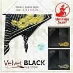 Segi Empat Velvet Black 17
