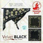 Segi Empat Velvet Black 20