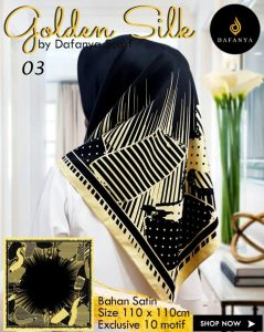 Segi Empat Golden Silk 3