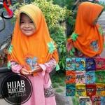 Jilbab Anak Serut Dua Pony