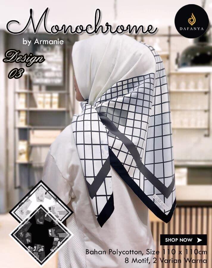 Monochrome Armanie 27 30 40 490 Dafanya SG Jilbab 03