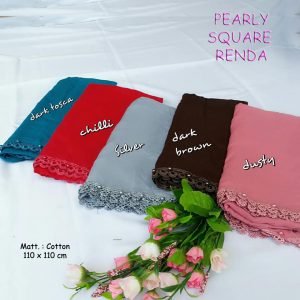 Renda Pearly Square 25 28 35 440 SG Jilbab B