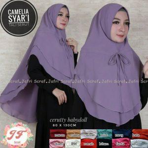 Camelia Syar'i 59 62 75 1.120 SG Jilbab Serut Tali