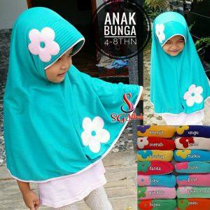 Jilbab Anak Bunga 22 25 30 390 SG Jilbab 4-8 th