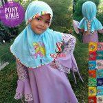 Jilbab Anak Pony Ninja