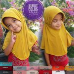 Jilbab Serut Polos Anak