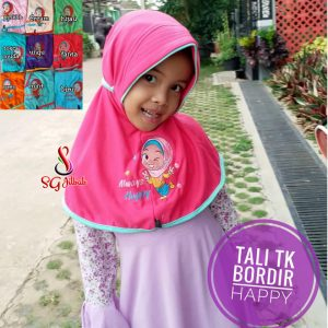 Tali Bordir Happy SG Jilbab