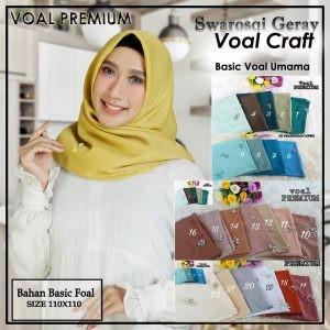 SALE STOCK Segi Empat Voal Premium Craft