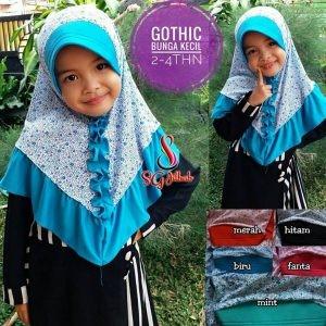 Jilbab Anak Gothic Bunga Kecil