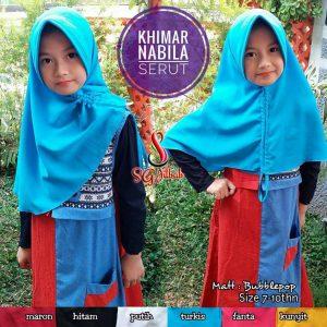 Khimar Nabila Serut 22 25 30 390 SG Jilbab