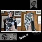 Segi Empat Black & White 03