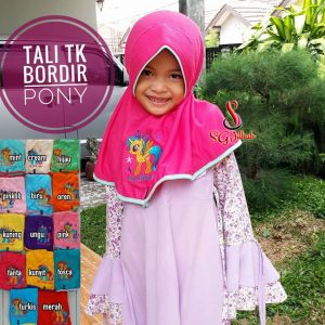 Jilbab Anak Tali TK Bordir PONY SG Jilbab