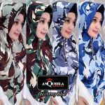 Hijab PV Army Blue Anqueela