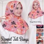 Hijab Rempel Tali Bunga