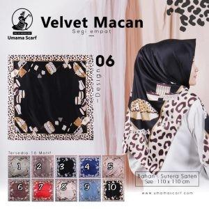 Segiempat Velvet Macan Umama 06