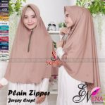 Hijab Plain Zipper