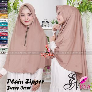 Plain Zipper 33 36 46 590 SG Jilbab 09 Mar'19
