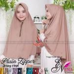 Hijab Plain Zipper