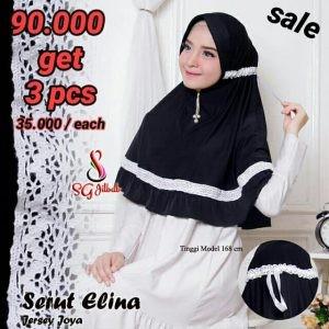 SALE STOCK Hijab Serut Elina