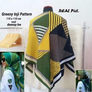Segi Empat Denay KW Greeny Inji Pattern
