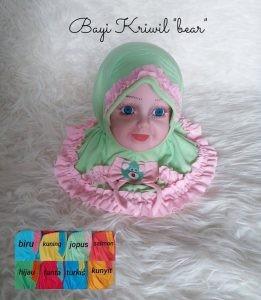Jilbab Bayi Kriwil Bear