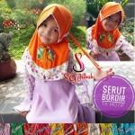 Jilbab Anak Serut Bordir TK Motif