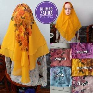 Khimar Zahra Ceruty Printing