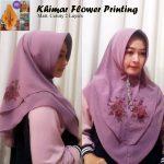 Khimar Flower Printing