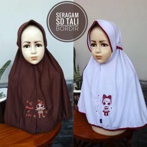 Jilbab Seragam SD Tali Bordir (LOL)