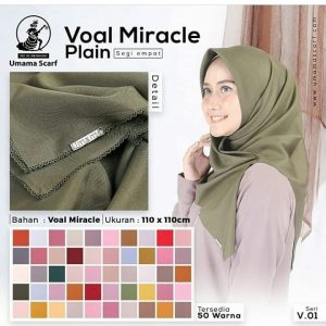 Hijab Segi Empat VOAL MIRACLE