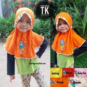 Jilbab Anak Poni Ninja