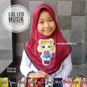Jilbab Anak LOL LED Music